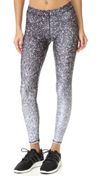 Terez Black And White Glitter Performance Leggings Multi