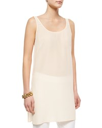 Eileen Fisher Sleeveless Long Slim Tank Alabaster