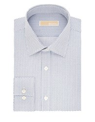 Michael Michael Kors Regular Fit Cotton Dress Shirt Blue Bird