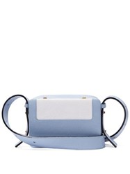 Lutz Morris Maya Intarsia Leather Cross Body Bag Light Blue
