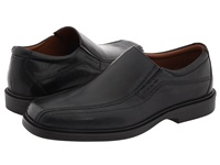 Johnston And Murphy Penn Slip On Black Full Grain Waterproof Leather Men's Slip On Dress Shoes
