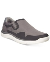Clarks Men's Cloud Steppers Votta Free Casual Slip Ons Men's Shoes Grey Synthetic