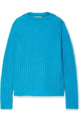 Marni Ribbed Mohair Blend Sweater Azure