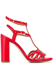Chie Mihara Strappy Heeled Sandals Red