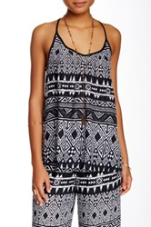 Green Dragon Print Swing Tank Multi