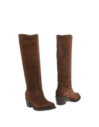 Janet And Janet Boots Brown