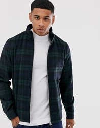 Burton Menswear Harrington Jacket In Black Watch Check