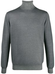 Cruciani Knitted Roll Neck Jumper Grey