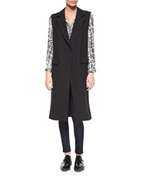 Milly Wool Sleeveless Long Overcoat