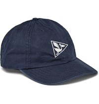 Mollusk Embroidered Cotton Twill Baseball Cap Navy
