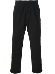 Palm Angels Side Stripe Trousers Black