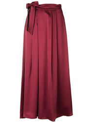 Forte Forte High Waisted Maxi Skirt Red