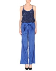 Pinko Black Pant Overalls Bright Blue