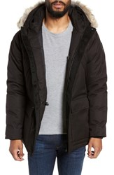 Nobis Heritage Down Parka With Genuine Coyote Fur Trim Black