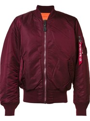 Alpha Industries 'Ma 1' Flight Jacket Pink And Purple