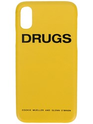 Raf Simons Iphone X Drug Case Yellow And Orange