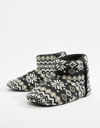 Dunlop Fairisle Boot Slipper Multi