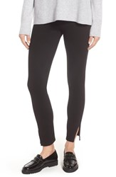 Lysse Split Hem Crop Denim Leggings Black