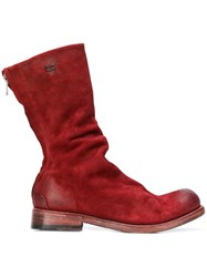 The Last Conspiracy Rear Zipped Boots Red