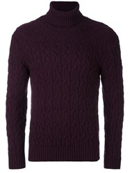 Etro Turtle Neck Jumper Pink And Purple