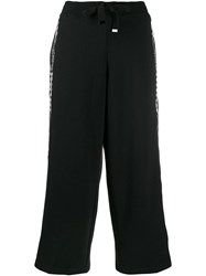 Vans Cropped Track Trousers Black