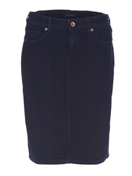 Lands' End Classic 5 Pocket Denim Skirt Denim Dark Indigo