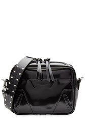 Rag And Bone Patent Leather Shoulder Bag Black
