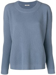 Odeeh Drop Shoulder Sweater Blue