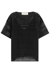 By Malene Birger Cotton Broderie Anglaise Top Black