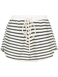 Bassike Striped Shorts White