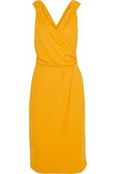 Raoul Celina Wrap Effect Crepe De Chine Dress Saffron