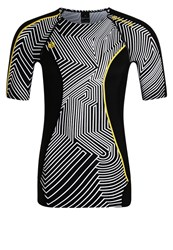 Skins Dnamic Sports Shirt Broken Maze Black