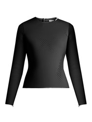 Balenciaga Perforated Neoprene Top Black