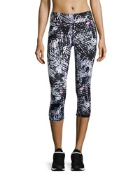 Marc Ny Performance Graphic Print Cropped Leggings Cherry Blossom Tornado