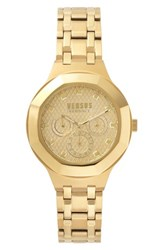 Versus By Versace Laguna City Multifunction Bracelet Watch 40Mm Gold