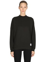 Calvin Klein Underwear Oversized Cotton Sweatshirt Black