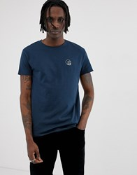 Cheap Monday Standard Small Skull T Shirt In Blue Navy