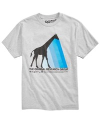 Lrg Men's Giraffe Prism Logo Print T Shirt Athletic Heather