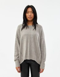 Which We Want Marti Speckled Oversized Sweater In Grey