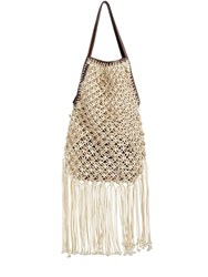 J.W.Anderson Hand Made Net Shoulder Bag W Pouch Natural