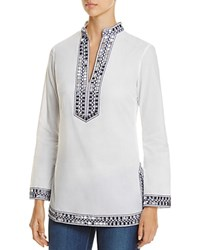 Tory Burch Embellished Tunic 100 Bloomingdale's Exclusive White