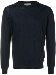 Corneliani Crew Knit Sweater Blue