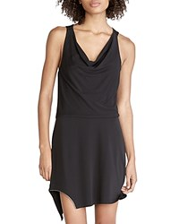 Halston Heritage Cowlneck Dress Black