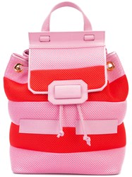 Boutique Moschino Striped Backpack Pink And Purple