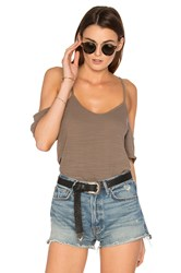 Lna Off Shoulder Tee Brown