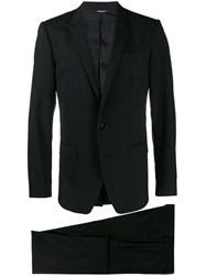 Dolce And Gabbana Single Breasted Wool Suit Black