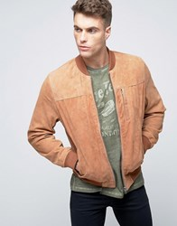 Pepe Jeans Greg Suede Bomber Jacket 078 Honey Tan