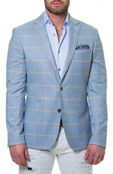 Maceoo Socrate Check Sport Coat Blue