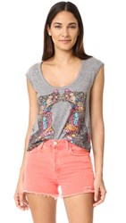 Chaser Decorated Camels Tee Streaky Grey