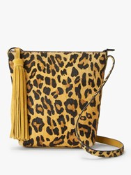And Or Mena Suede Cross Body Bag Leopard Print